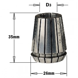 """Pinces de serrage """"er25"""" pour mandrin pour meche diam 6 mm ref 18406025"""