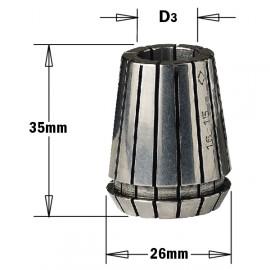 """Pinces de serrage """"er25"""" pour mandrin pour meche diam 12mm ref 18412025"""