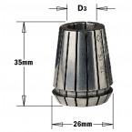 Pince pour mandrin  d16 mm er25 ref 18416025 *