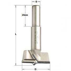 Meche a tete cylindrique en diamant,d15mm,l57.5mm, coupe a droite   ref 31715061