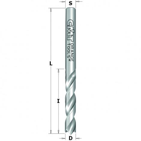 Meche a percer helicoidale carbure monobloc s4    i27    l55     avec inciseur negatif   rot. gauche ref 36304022**