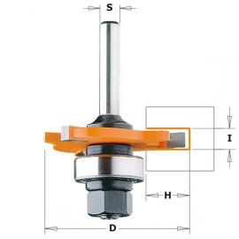 Fraise disque pour rainurage 3 coupes carbure +arbre queue 6.35mm  i1.6 mm réf 82231611a