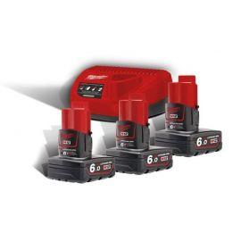 M12NRG-603 - Pack NRJ 12V, 6,0 Ah  Red Lithium, système M12