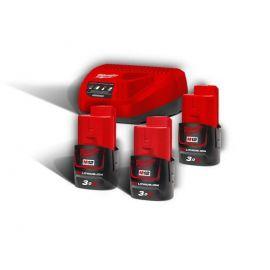 M12NRG-303 - Pack NRJ 12V, 3,0 Ah  Red Lithium, système M12