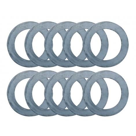 JEU 10 Bagues millimétriques 0,1  à  1,0mm D.45 Al.30