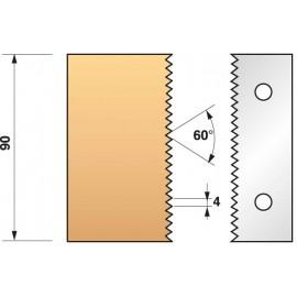 JEU de 2 fers profilés N°134 pour P.O. Ht.90mm