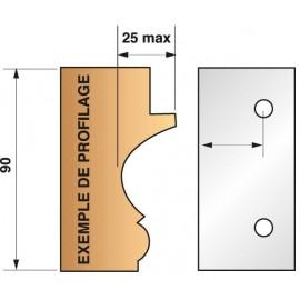 JEU de 2 fers Bruts N°299 pour P.O. Ht.90mm