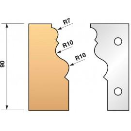 JEU de 2 fers profilés N°302 pour P.O. Ht.90mm