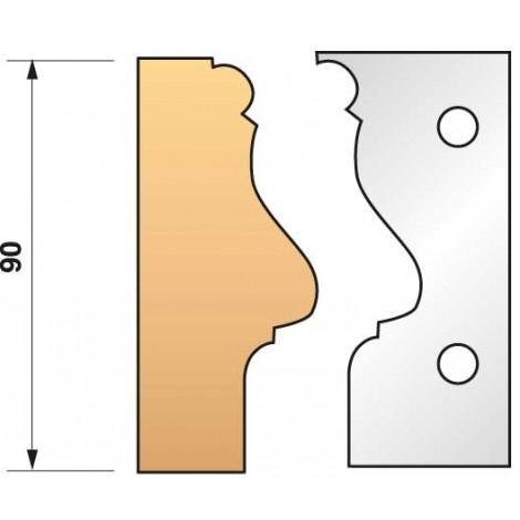 JEU de 2 fers profilés N°304 pour P.O. Ht.90mm