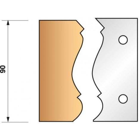 JEU de 2 fers profilés N°305 pour P.O. Ht.90mm