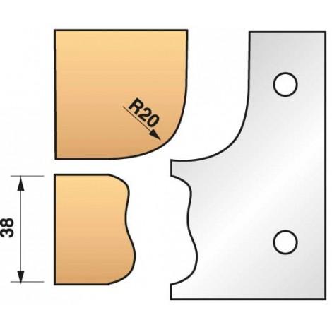 JEU de 2 fers profilés N°323 pour P.O. Ht.90mm