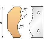 JEU de 2 fers profilés N°351 pour P.O. Ht.90mm