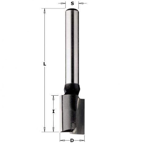 Fraises à défoncer pour pantographes - D : 8 - l : 20 - L : 55 - S : 8 - Rotation : DROITE