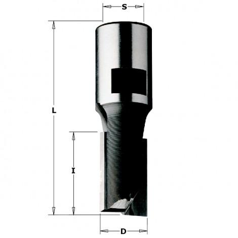 Meche a defoncer d : 20 mm , l : 45 mm , l : 77 mm
