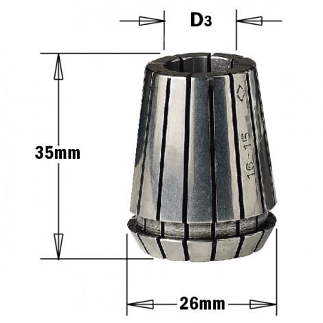 Pinces de serrage ER25 - B : 16