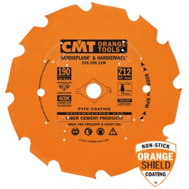 Lame circulaire diamant pour machine portative 190 x 1.6 / 2.2 x z 4 al 30 pour decoupe materiaux abrasifs, mdf, ref 23619004