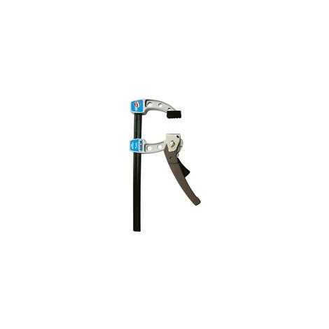 Serre-joint puissant Tige acier saillie 80 section 20x5 serrage 300