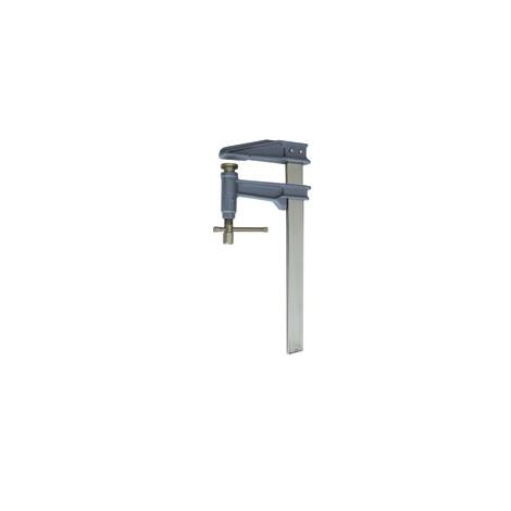 Serre-joint à pompe Tige chromée saillie 120 section 35x8 serrage 400