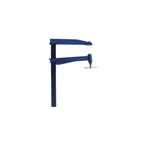 Serre-joint Tige acier Grande saillie 300 section 40x10 serrage 800