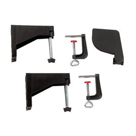 Support pliable avec capot protecteur et 2 serre-joints