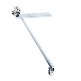 Tige télescopique avec tôle de support, 960 mm