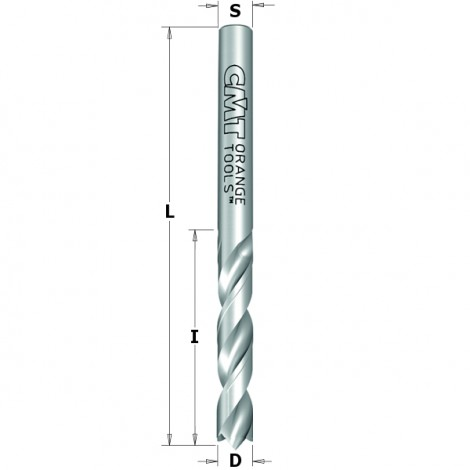 Mèches avec inciseurs négatifs pour trous borgnes - 363 - D : 4 - l : 27 - L : 55 - S : 4 - Rotation : GAUCHE