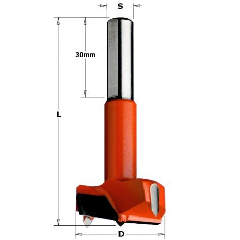Mèches à façonner pour charnières - D : 35 - L : 77 - S : 10x30 - Rotation : GAUCHE