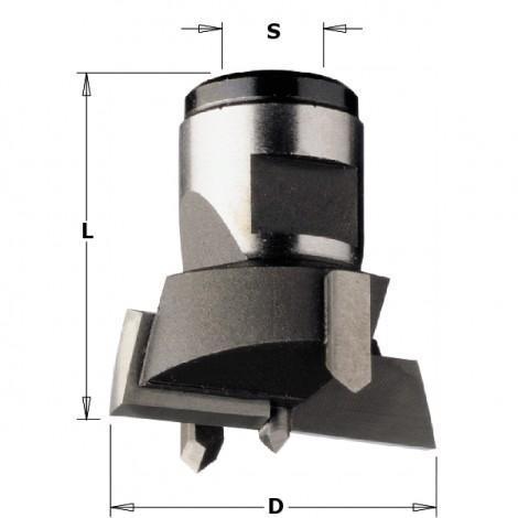Mèches interchangeables à queue filetée - D : 34 - L : 30 - S : M12x1   - Rotation : DROITE