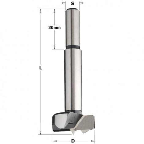 Mèches à façonner acier à queue (10mm) cylindrique - D : 38 - L : 90 - S : 10x30 - Rotation : DROITE