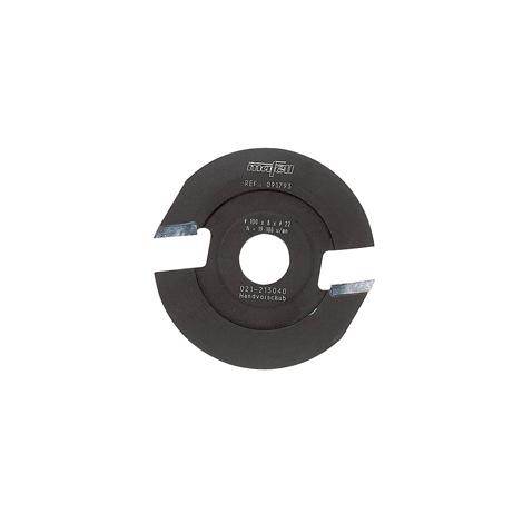 Fraise spéciale pour enlever les poches de résine 100 x 8 x 22 mm, 2 dents, au carbure