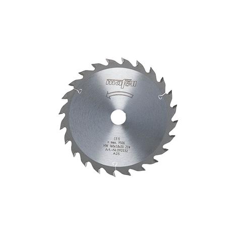 Lame de scie au carbure, 160 x 1,2/1,8 x 20 mm, 24 dents, denture alternée, à usage universel, bois