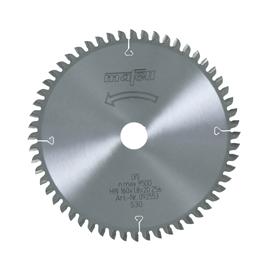 Lame de scie au carbure, 160 x 1,2/1,8 x 20 mm, 56 dents, denture plate/trapézoïdale, pour coupes fines, bois