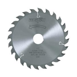 Lame de scie au carbure, 120 x 1,2/1,8 x 20 mm, 24 dents, denture alternée, pour usage universel, bois