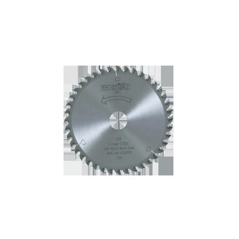 Lame de scie au carbure, 120 x 1,2/1,8 x 20 mm, 40 dents, denture plate/trapézoïdale, pour coupes fines, bois