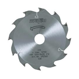 Lame de scie au carbure 120 x 1,2/1,8 x 20 mm, 12 dents, denture alternée, pour coupes longitudinales, bois