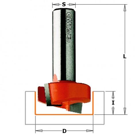 Fraises à défoncer - D : 18 - l : 16 - L : 48 - S : 6 - Rotation : DROITE