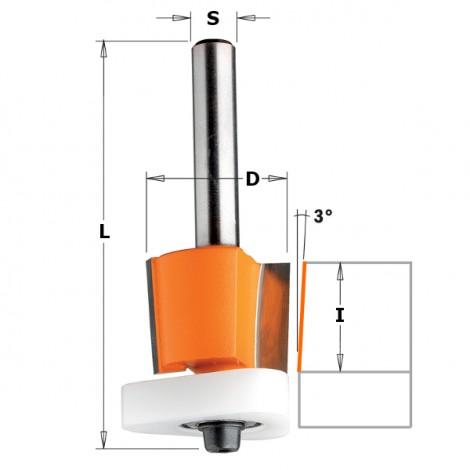 Fraise a affleurer les lamines  s6 i15.87 d19 ref 70719011