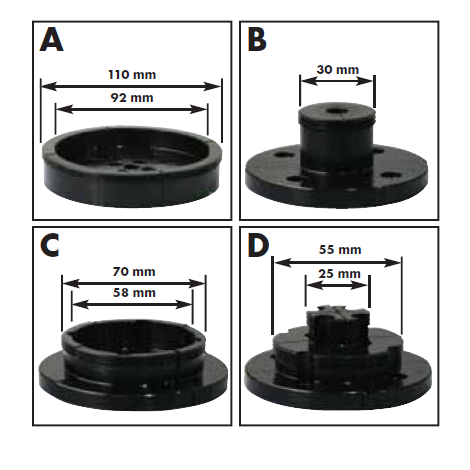 COFFRET TOURNAGE / 4 Mors pour mandrins Filetage M33x 3,5mm