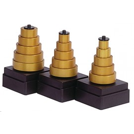 Jeu de 5 guides a billes  pour feuillures 4.7-8-11.1-14.3-17.5mm ref 79170600**