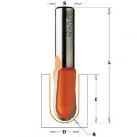 Fraises à gorge - R : 6.35 - D : 12.7 - l : 31.7 - L : 73 - S : 12.7 - Rotation : DROITE