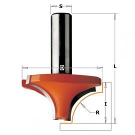 Fraise pour quart de rond a 2 coupes carbure queue de 6.35mm r6 d23 i12 ref 82706011