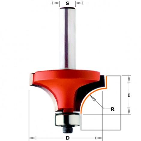 Fraise pour quart de rond a deux coupes carbures, r38.1mm, d88.9mm   ref 83899611