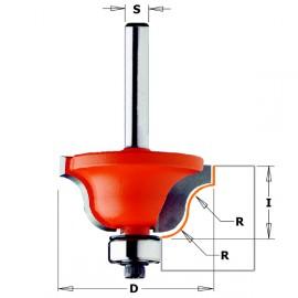Fraises pour moulures décoratives - R : 6.4 - D : 38.1 - l : 17.3 - S : 6.35 - Rotation : DROITE