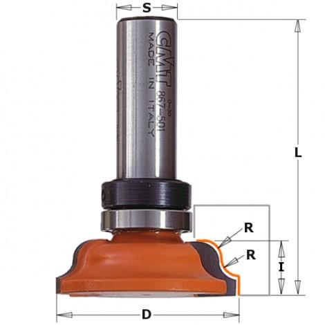 Meche pour moulure   s12.7  i11.5   r4mm   d54  réf86750211b***