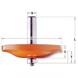 Fraises à plate-bande horizontale - Profil B3 - D : 47.6 - l : 9.5 - L : 58.1 - T1 : 12.7 - 15 - S : 12.7 - Rotation : DROITE