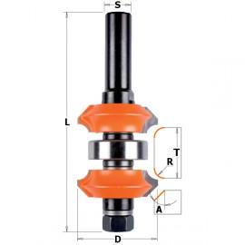 Fraise hw reglable avec profil double z2 s12 d38x31,75 dr ref 90062311