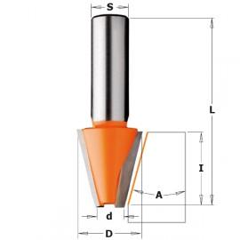 Fraise speciale a chanfreiner pour corian s12mm d23mm i25.4mm a15° ref 98152111