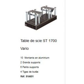 Table de scie ST 1700 Vario