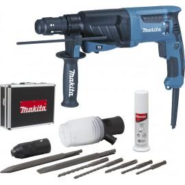 Perfo-burineur SDS-Plus 800 W 26 mm (coffret alu + kit d'accessoires) Makita ref HR2630TX4