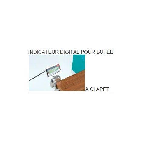 Butée à clapet avec indicateur digital